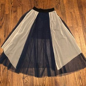 Skirts - Navy & Blush Tulle Skirt